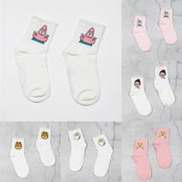 Wholesale panther girls for sale - Group buy gLw1e Funny mid calf socks Harajuku Funny short bn9EF socks Pink ulzzang Panther balls cartoon anime girl Korean short