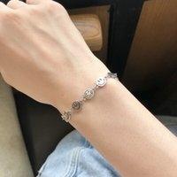 Wholesale ethnic designs resale online - IcBzx Silver Sterling expression BRACELET WOMEN ins minority Ethnic Bracelet nationality design Group smiling face Thai students cool win