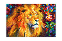 Wholesale lions home decor for sale - Group buy Lion By Leonid Afremov Home Decor Handpainted HD Print Oil Paintings On Canvas Wall Art Pictures