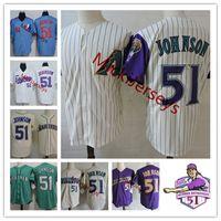 Wholesale randy white jerseys resale online - Mens Randy Johnson Retirement Patch Jerseys white green cream Randy Johnson HOF patch Jersey S XL