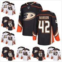 Wholesale max 46 resale online - New Custom Anaheim Ducks Manson Sami Vatanen Max Jones Hampus Lindholm Blank Hockey Jerseys White Away Home Black