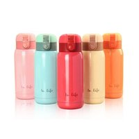 Wholesale free baby stuffs resale online - Thermal Children Thermos Bpa Rope Steel School Stuff Milk Bottle Portable Baby Free Cup Mini Vacuum ml With Flask Stainless bbyrqv
