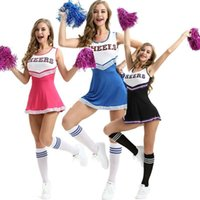 Wholesale dresses girls games for sale - Group buy Women Girls Cheerleading uniforms Game National Club School Team Cheerleading Dress New Drop Shipping