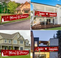 Wholesale christmas tree stores resale online - 3 M Merry Christmas Banner Halloween Christmas Decorations for Home Outdoor Store Banner Flag Pulling Navidad Natal Banner DHL