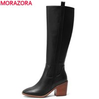 Wholesale restore boots for sale - Group buy 2020 winter new arrive genuine leather knee high boots fashion round toe simple restoring shoes woman boots210