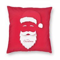 Wholesale origami christmas resale online - Santa Claus Pillowcase Christmas Pillowcase Origami Of Santa Claus Christmas Card New Home Office Comfortable Seat Cushion Bar Chair