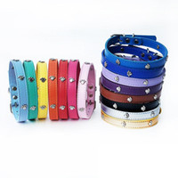 Wholesale dog e collars for sale - Group buy Dog Collar Leather Lead Small Dog Collar Free Puppy Supplies Pet Accessories Paws Leather Golden Retriever Accessories E
