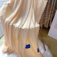 Wholesale microfiber blanket queen for sale - Group buy Designer champion Twin Queen Blankets fleece throw Blanket home textiles Sofa Airline solid color Rug Nap hotel flat sheet bedspread