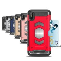 Wholesale armour iphone case online – custom Magnetic Armor Case for iPhone Plus X XS TPU PC Mixed Armour Magnet Cover for iPhone s XS Max XR Card Slot Coque