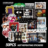 Wholesale mirror friends resale online - 50 Mixed Skateboard Stickers New Friends Sitcom For Car Laptop Pad Bicycle Motorcycle PS4 Phone Luggage Helmet Pvc guitar fridge Decal