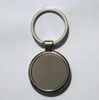 Wholesale blank key rings resale online - Customizable LOGO Styles Shape Metal Blank Tag Creative Car Keychain Business Advertising Personalized Stainless Steel Key Ring EWD2445