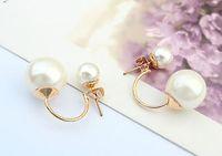 Wholesale bridal earings resale online - Pearl Earings Fashion Jewelry China Channel Jewelry Pearls Earrings Bridal Gold Earrings big candy ball Stud Earings