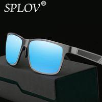 Wholesale mens travel accessories resale online - Aluminum Mens Polarized Mirror SunGlasses Male Driving Party Travel Eyewears Accessories Glasses Men Gafas de sol