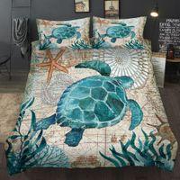 Wholesale 3d bedding set dolphins for sale - Group buy Ocean series Sea turtle seahorse dolphins D Bedding set comforter bedding sets octopus bedclothes bed linen US AU UK11 Size C1020