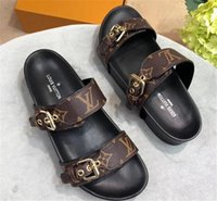 Wholesale men s slippers for sale - Group buy Fashion Luxury designer sandals forward sale sandals for men and women designer flat slippers High quality Flower Printed S