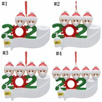 Wholesale Christmas Tree Ornament Xmas Hanging Ornaments Santa Claus Family Christmas Pendant Decoration Home Xmas Party Decorations FWC4092