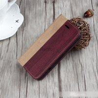 Wholesale iphone 5s case wallet for sale – best Mobile Phone Retro Wooden Phone Accessory Leather Wood Wallet Case Flip Cover for iphone s