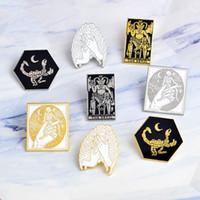 Wholesale rib cage for sale - Group buy New Rib Cage Scorpion Skeleton Devil Satan Pins Brooch Badge Lapel Gifts Women Men
