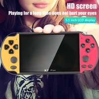 Wholesale pap video game for sale - Group buy X7 Plus Game Console Portable Camera MP5 HD Movies Double Rocker G Video Kids Music LCD Rechargeable Handheld FC GBA MD CPS Game PAP PXP3