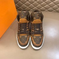 Wholesale 2020 High quality shoe Man Casual Louis Shoes Vuitton Trend Breathable Sneakers For Men Zapatosn Hombre Flats