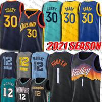 Devin 1 Booker Jersey Chris Cp3 Paul Jerseys Stephen 30 Curry Jersey Ja Morant Jersey 2021 Season City Steve Charles Nash Barkley Uniform