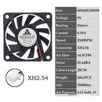 Wholesale 12v dc brushless cooling fan resale online - Fan Cooling Fans amp Cooling Pieces Gdstime Pin DC V V Volt cm x60x10mm mm Dual Ball Bearing Brushless