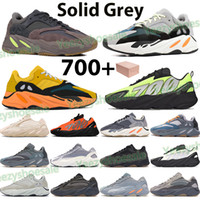 New 700 reflective mens running shoes phosphor sun bone orange solid grey carbon teal blue triple black women sports trainers sneakers box