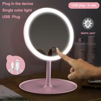 Wholesale mirror stands for sale - Group buy Makeup mirror with led mirrors standing mirror touch screen vanity mirror backlit adjustable light desk cosmetic mirrors GGE1925