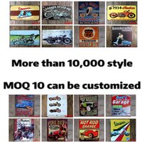 Wholesale oil motor resale online - Metal Tin Signs Sinclair Motor Oil Texaco poster home bar decor wall art pictures Vintage Garage Sign Man Cave Retro Signs X30cm WY840