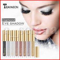 Wholesale eye black stick for sale - Group buy Teayason Glitter Eyeshadow Liquid Crystal Liner Eye shadow Stick Diamond Shimmer colors Makeup Eye Shadows