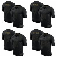 Wholesale football jerseys thomas for sale - Group buy New Orleans Saints Men Alvin Kamara Drew Brees Michael Thomas Salute To Service Retired Limited Football Jersey Black