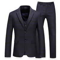 Wholesale wedding dresses for skinny resale online - Jacket Pants Vest New Stlyle Suits Tuxedo Gentleman Men s Suits Skinny Blazers Business Casual Prom Wedding Dress for men Plus