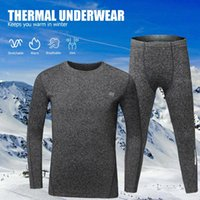 Wholesale boys running sets resale online - Children Winter Thermal Underwear Fleece Lining Thick Warm O Neck Long Sleeve Top Pants Long Johns Set thermal underwear for boy