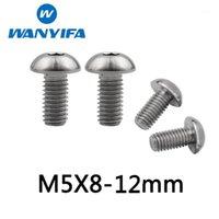 Wanyifa Titanium M5x16 18 20mm Hex Socket Washer Round Head Bolts for Bikes Stem