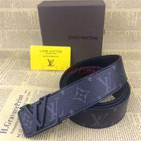 Wholesale bronze pearls resale online - Designer high quality men and women division girdle leather belt gold pearl buckle LV LOUIS VUITTON box