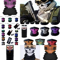 Wholesale skull c for sale - Group buy New Styles Motorcycle Bicycle Outdoor Sports Neck Cosplay Skull Mask Full Face Head Hood Protector Bandanas Party Masks C DAQO