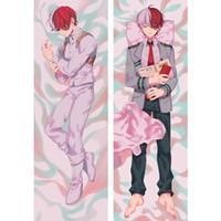 Wholesale dakimakura pillow cover resale online - Anime My Hero Academia Katsuki Bakugou Dakimakura Hugging Body Pillow Case Custom DIY Cushion Fujoshi BL Cosplay Costume Cover