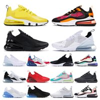 Wholesale 270 Mens sneakers Running shoes white Red black USA react Supernova Yellow UNC Bauhaus Coral womens sports trainers outdoor fashion