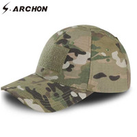 Wholesale tactical hats for men for sale - Group buy S ARCHON Adjustable Multicam Camouflage Hats For Men Snapback Tactical Baseball Caps Paintball Combat Army Hats
