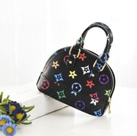 Wholesale mini handbags for babies for sale - Group buy New baby pu bag for girls Mini Shell bags baby print handbag chain bag coin Purse Princess Fashion Mini cross shoulder bag