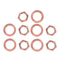 Wholesale bass guitar nuts resale online - 10pcs Thread quot Guitar Jack Nuts and Washer Gasket for Guitar Bass Replacements