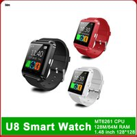 Discount huawei u8 Smart Watch U8 Watch Smart Watches Samsung Huawei Sony Android Electronic Smartwatch For Apple IOS Watch With Package