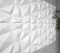 Wallpaper decorative 3D wall paneling diamond design (vegetable fiber) WallStickers