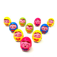 Wholesale roly poly resale online - New Cartoon Wooden Tumbler Doll Toy Mini Funny Roly poly Mobile Rattles Toys Birthday Gift For Newborns Children