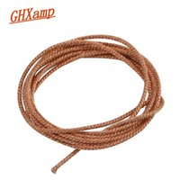 Wholesale braided copper wire for sale – best Consumer Electronics GHXAMP Meter Strand Stage Speaker Lead Wire Braided Copper Wire For Inch Woofer PA Speaker Repair DIY