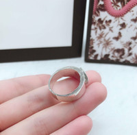 Top Quality Trend New Ring High Quality Sterling Silver Ring S925 Material Wild Couple Ring Fashion Product Supply