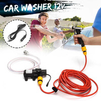 Wholesale water pumps car wash resale online - DC V W Household Portable High Pressure Mini Car Washer Cleaner Water Wash Pump Sprayer Kit Tool Car Washing Machine