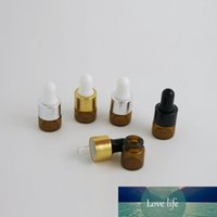 Wholesale mini drop bottles for sale - Group buy 100 X ML Amber Small Glass Dropper Bottles for Essential Oil Perfume Sampling Tiny Portable Containers Mini Perfume Drop Vials