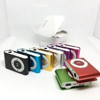 Wholesale mini clip mp3 player without screen for sale - Group buy Mini Clip MP3 player without Screen colors support Micro SD TF card with earphones headphones usb cable retail box