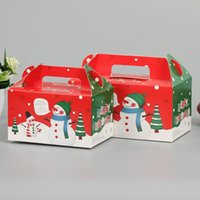 Wholesale blue candy packages resale online - Christmas Box Storage Boxes Gingerbread Cookie Orange Cake Biscuit Candy Gift Packaged Box EWF2477
